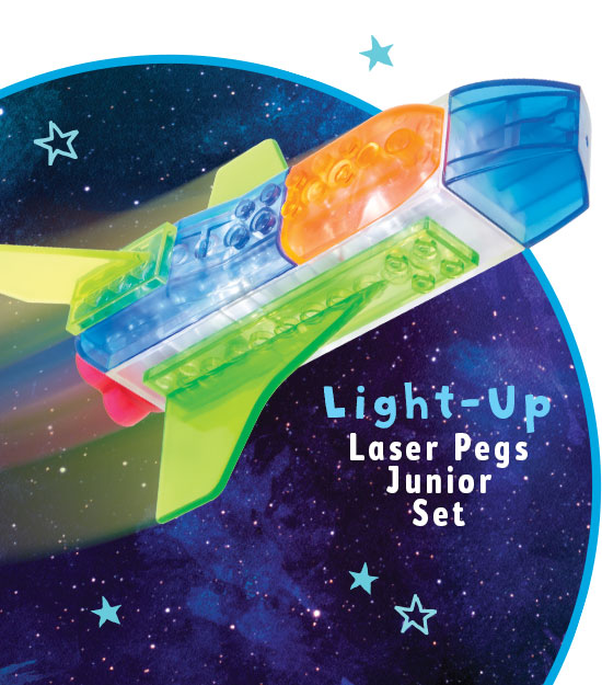 Light up builder set rocket